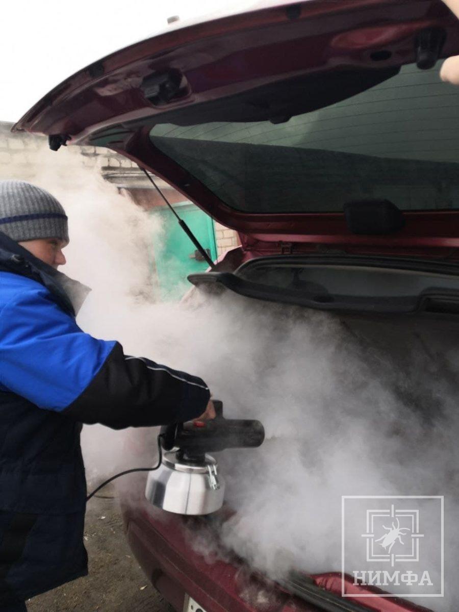 Дезодорация авто — дезслужба Нимфа