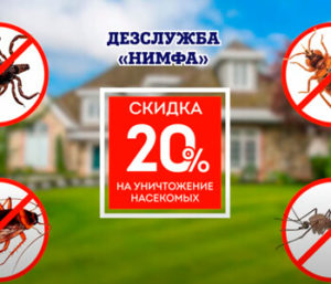 Майские СКИДКИ на уничтожение насекомых -20%